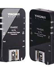 YONGNUO yn 622c, yn-622c draadloze ettl HSS 1 / 8000s flitstrekker 2 transceivers voor Canon 1100D 650D 600d 7d 5DII 50d