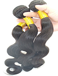 """3pcs / lot 10 """"-28"""" onda extensiones del pelo humano brasileño chica sin procesar grado del pelo remy rizos sexy pelo"""