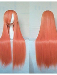 New Arrival Cosplay Wig Cartoon Wig 30 inches Long Straight Red Party Wig Animated Synthetic Hair Wigs Fresshipping