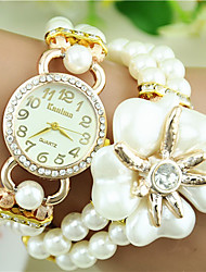 European Style Fashion Pearl Rhinestone Flower Magnet Bracelet Watch Trend Watch