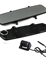 Dual Lens 4.3 Inch Screen Car Mirrors DVR Camera  with 140 Degree G-sensor Motion Detect Night Vison