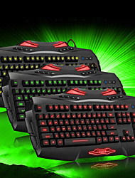 RAJFOO Three-Colour Light Emitting Professional Gaming Keyboard