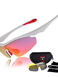 [Free Replacement Lenses] Senlan Cycling Running Polarized UV400 Wrap Sports Glasses