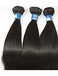 "3Pcs /Lot +10""-28""Brazilian Human Hair Natural Black Heat Resistant Natural Straight Unprocessed Hair Remy Hair Hot Sell"