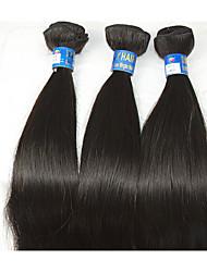 """3pcs / lot +10 """"-28"""" brazilian capelli non trattati resistente al calore capelli umani naturali neri e lisci naturale remy capelli vendita"""