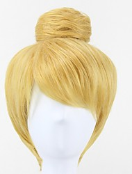 Princess Tinker Bell Tinkerbell Blonde Bun gold Cosplay Wig for Adult
