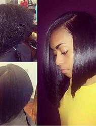 12inch Brazilian Human Hair Natural Color Bob Straight Full Lace Wig, Free Shipping