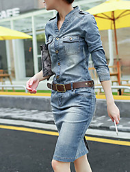 Women's Blue Denim Dress