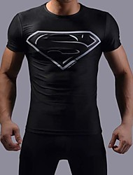 Super Man Dark Color Tight Fast Drying Cycling T-Shirt Male
