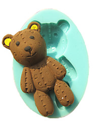 Bear Toy Fondant Cake Molds Chocolate Mould For The Kitchen Baking Sugar Cake Decoration Tool