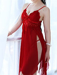 Women's Organza Chemises & Gowns/Lace Lingerie/Ultra Sexy Translucence Backless Nightwear