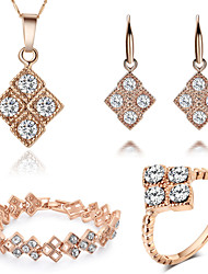 Rose Gold Plating Fashion Women's Jewelry Sets