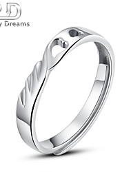 Poetry Dreams Sterling Silver Heart Adjustable Ring Women's Ring