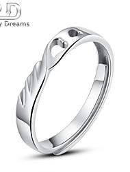 Poetry Dreams Sterling Silver Heart Adjustable Ring Men's Ring