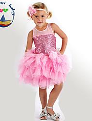 Girl's Summer Sleeveless Dresses (Cotton Blends)