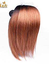 3st / lot 10 '' - 26 '' ombre hår boundles eurasian jungfru hårförlängningar siden rakt två tonar 1b / 30 human vävning hår