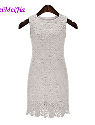 WeiMeiJia® Women's Lace Cut Out Sleeveless Knee-length Dress (Lace)