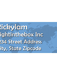 Personalized Product Labels / Address Labels World Map Pattern Of Film Paper