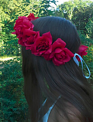 Women/Flower Girl Foam Flowers With Wedding/Party Headpiece Flower headband Rose headband