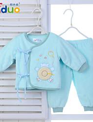Ajiduo Newborn Baby Clothing Boys Girls Pure Cotton Bandage Tops Pants 2 Piece Set