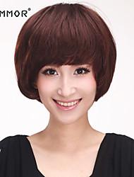 Pretty Capless Short Curly Human Hair Wigs