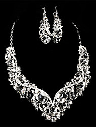 Women's Alloy/Rhinestone Wedding/Party Jewelry Set