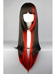Long Black And Red Mixed Beautiful lolita wig Anime Wig