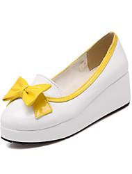 Women's Shoes Low Heel Comfort Loafers Office & Career/Dress/Casual Black/Yellow/Pink/Beige