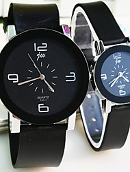 Couple's Round Dial Plastic Strap Simple Quartz Watch (Assorted Colors) Cool Watches Unique Watches