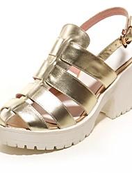 Sandales/Pompes / Talons/Chaussons ( Pourpre/Or Chaussures à talons/Escarpin-sandale/Spartiates - Talon aiguille - Suède - pour FEMMES