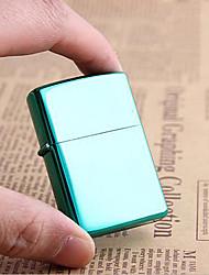 Luxurious Green Bright Chrome Plated Kerosene Lighter