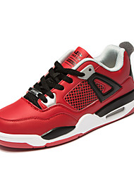 Men's Running Shoes Leather Black/Red/White