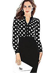 Business V-Ausschnitt - Langarm - FRAUEN - Kleider ( Baumwolle )