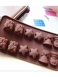 Fashion Decorations Ice Chocolate Decorating Cake Tools Silicone Cake Mold Candy Jelly Modeling Mould (Random Color)
