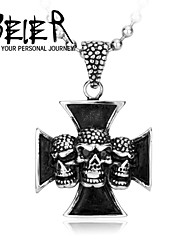 Factory one piece Jewelry Biker Iron  Flame Skull Pendant