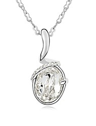 Mutual Belief Short Necklace Plated with 18K True Platinum Crystal Clear Crystallized Austrian Crystal Stones