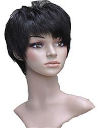 brevi 100% parrucche dei capelli umani senza cappuccio