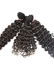"""3pcs lot 10 """"-28"""" ventas calientes extensiones de cabello humano peruano natural sin procesar remy negro 6a pelo de grado sin enredos"""