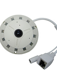 1.3MP CMOS 360° Fisheye Panoramic IP Camera wirh 1.78mm Lens, 12 IR LEDs, Support 128G SD Card