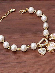 Alloy/Imitation Pearl Bracelet Charm Bracelets Wedding/Party/Daily/Casual 1pc