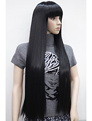 """New Charming 30""""  Women's Long Straight With Bangs Heat Resistant Synthetic Wigs"""
