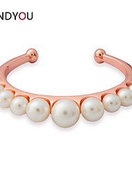 Women's Cuff/Chain/Tennis Bracelet Cubic Zirconia/Pearl/Alloy/18K Gold Plated Crystal/Pearl/Cubic Zirconia