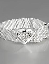 925 Silver Net Heart Bracelet Friendship Bracelets Hot Sale New Products