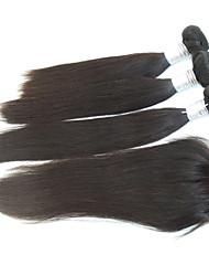 "4pcs lot 10 ""-28"" 6a remy negro pelo fino peruano humano virginal cierre de cabello natural tejido lía recta cabello real"