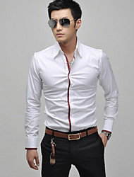 ZX Men's Casual Shirt Collar Long Sleeve Casual Shirts (Cotton Blend)