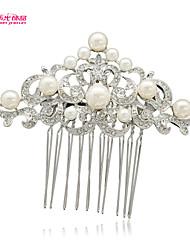 Neoglory Jewelry with Flower and Imitation Pearl Rhinestone Wedding Bridal Hair Combs