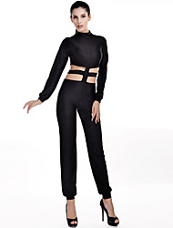 Women's Sexy Solid Color Slim Jumpsuits