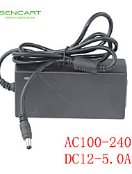 LED Light Bar Adapter Input AC100-240V 50/60HZ Output DC12V 5A Switching Power Supply
