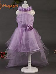 Menina de Vestido Jacquard Malha Verão Violeta
