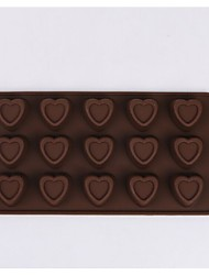 Fashion style15 heart new style silicone cake mould chocolate mold (Random Color)